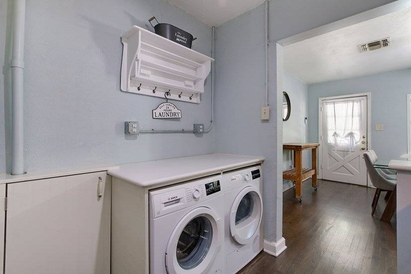Laundry station in Kitchen