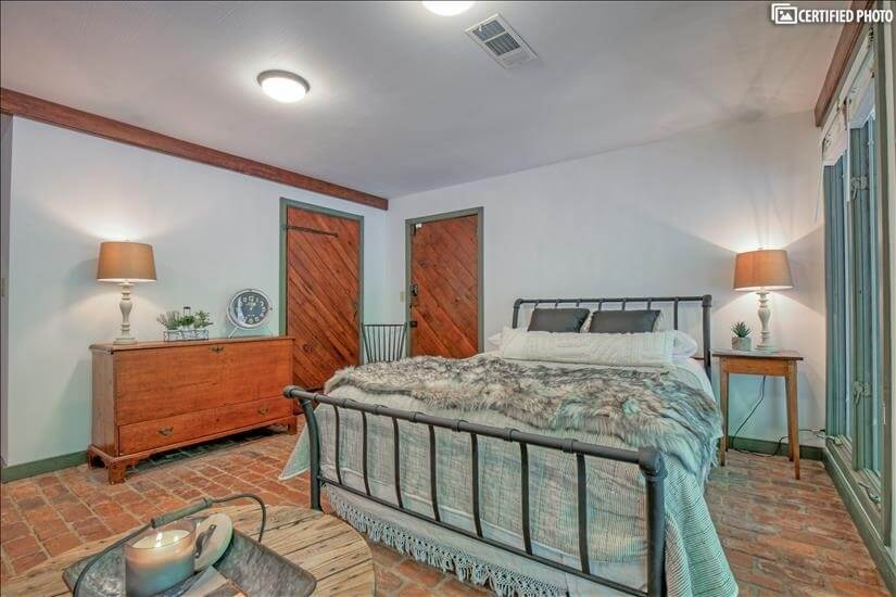 A great secluded bedroom on lower level of ca