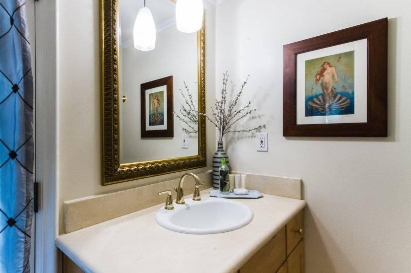 En Suite Master Bathroom, Marble counter, garden access door