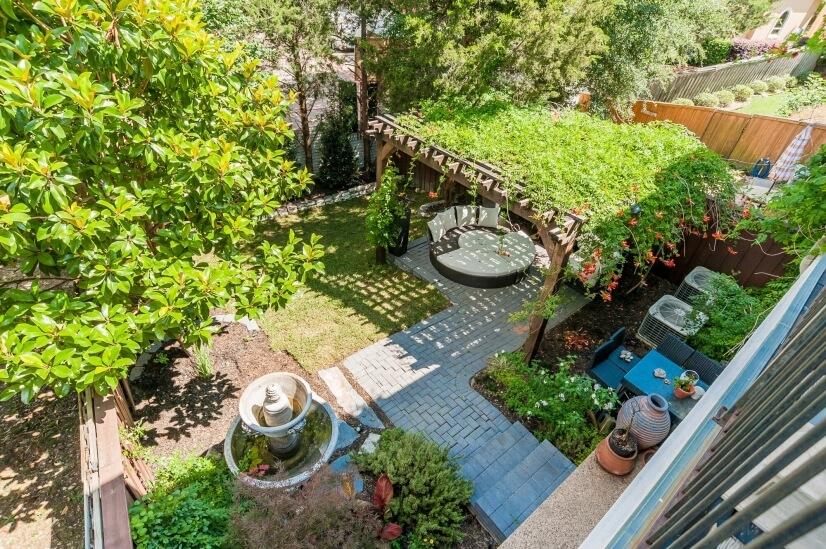 Private & Serene Backyard Cedar Pargola Waterfountain