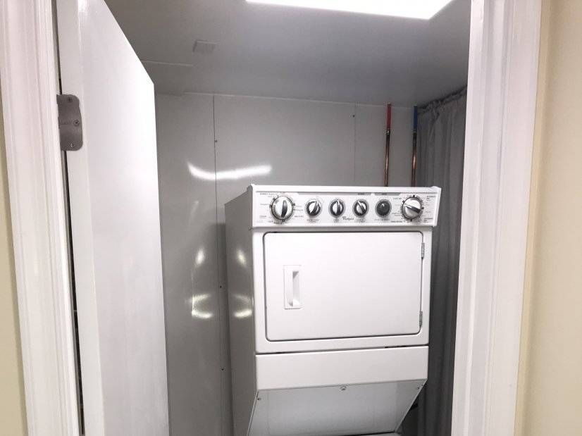 Your own washer, dryer and utility sink