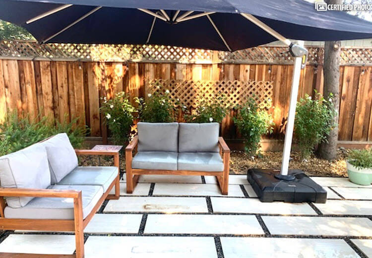 Private seating area to relax and entertain