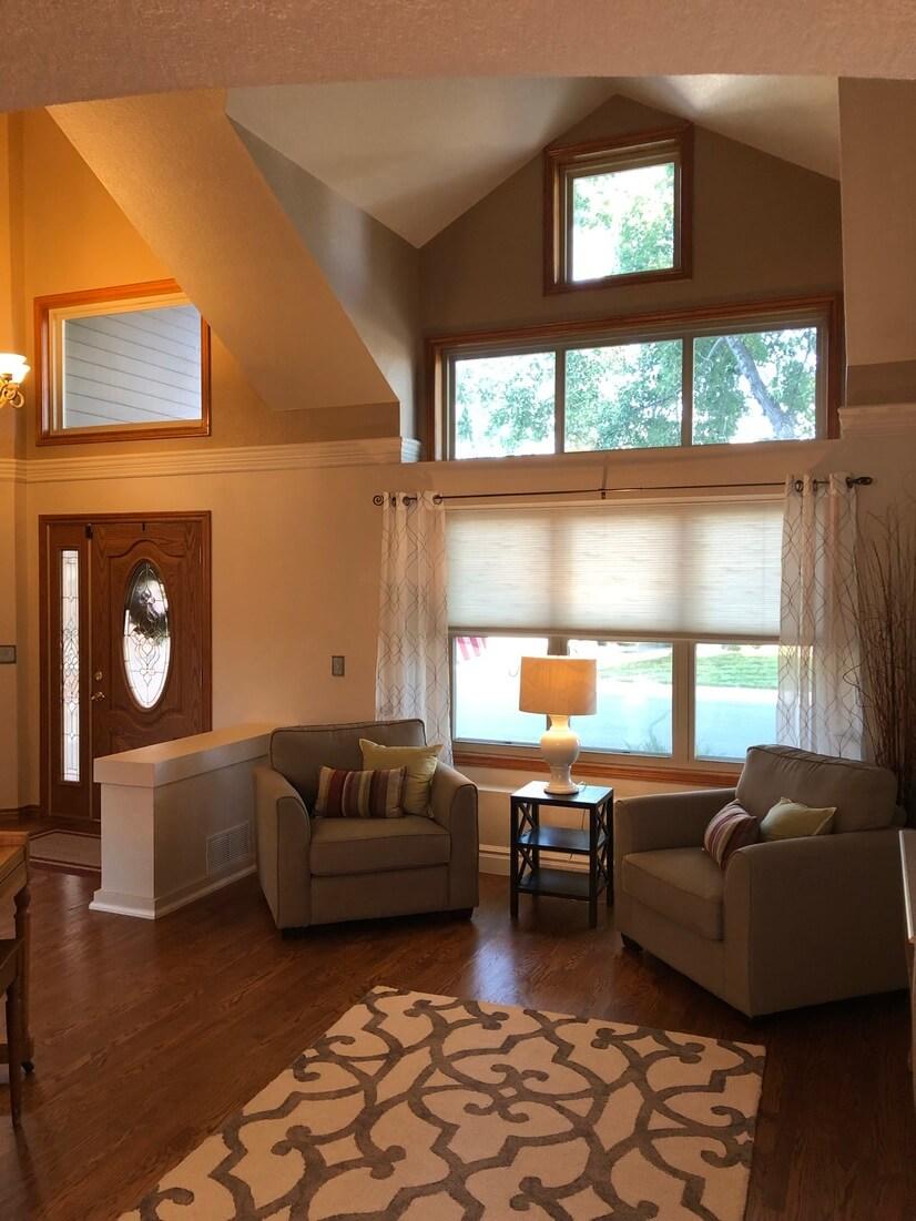 Living room / front door