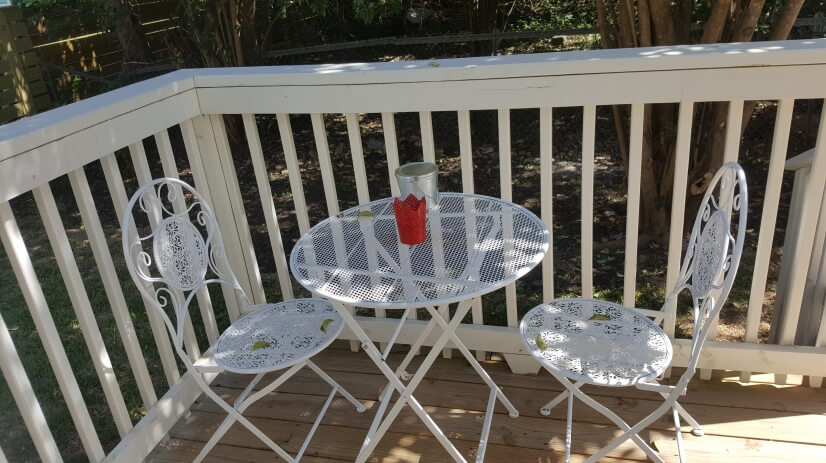 Back Deck Dining Area