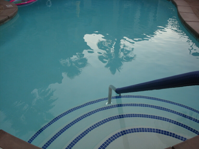 Pool heated during the winter season