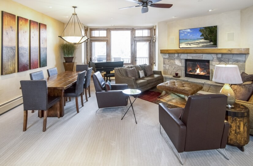 Dining and family room area.  Very open floor plan.