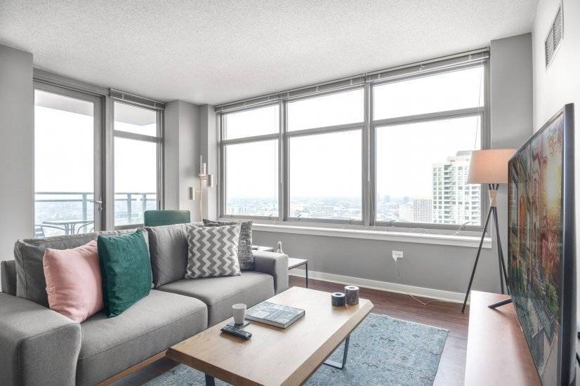 Spacious, Furnished 1 BR, West Loop