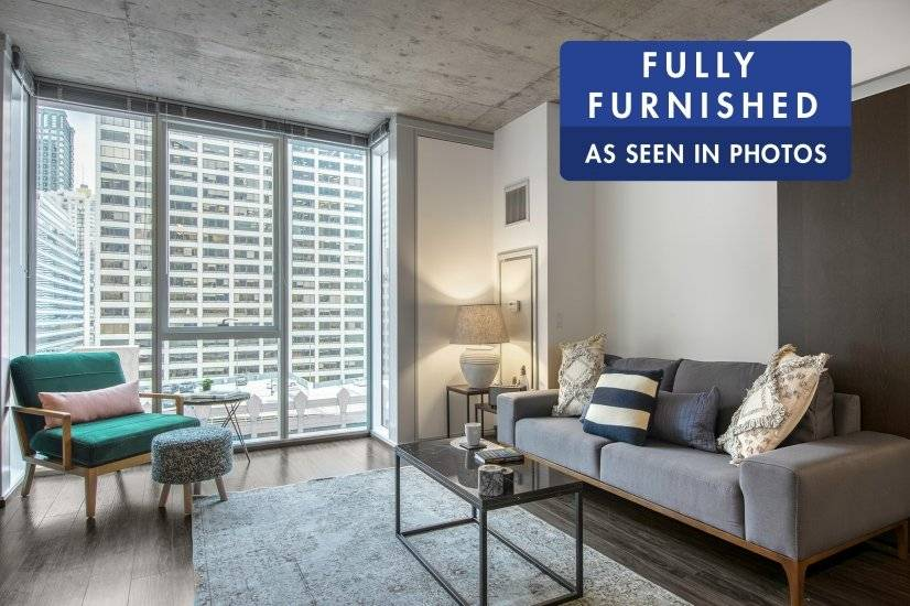 Furnished, Modern 1BR in The Loop w/ Gym