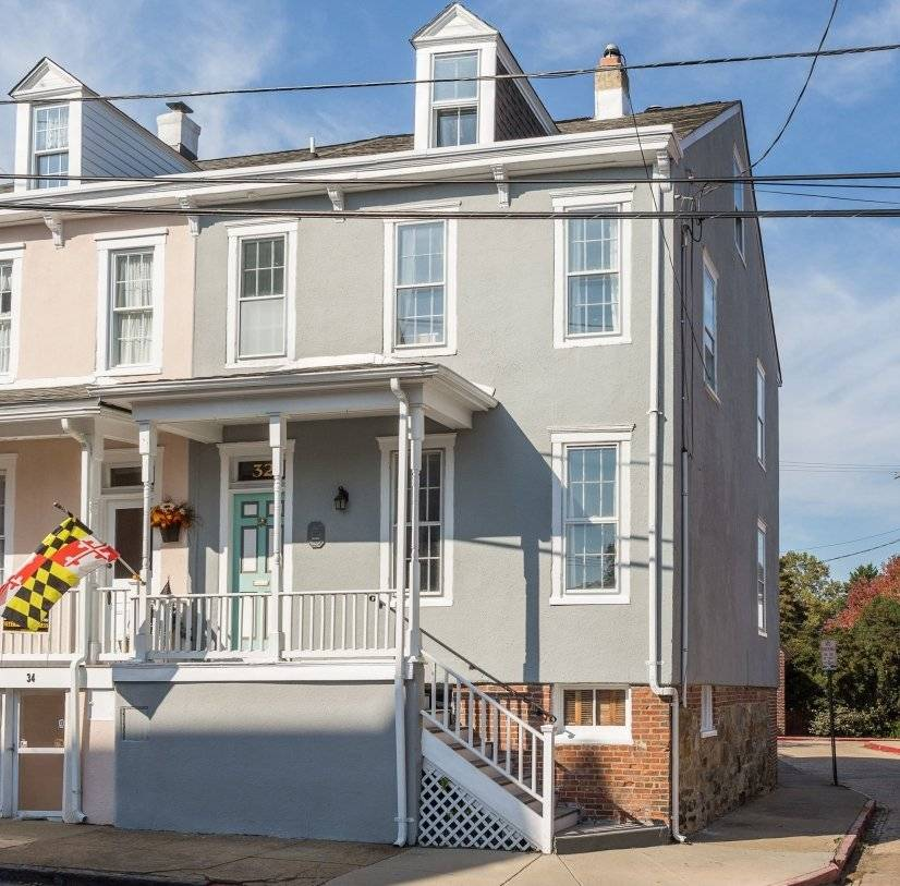 Exterior Spacious 4 BDR Furnished home in downtown Annapolis