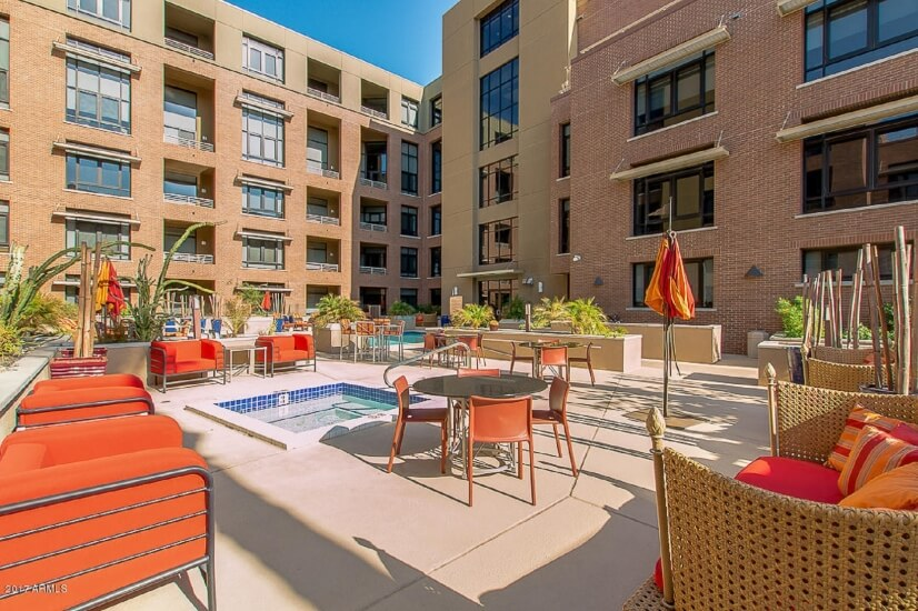 Hot Tub/Pool Area - Old Town Scottsdale corporate rental