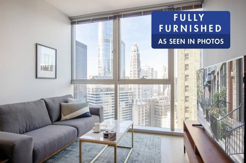 Furnished, Comfy 1BR in the Loop w/ Pool