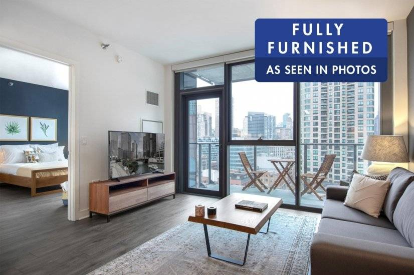 Lovely River North 1BR w/ Gym