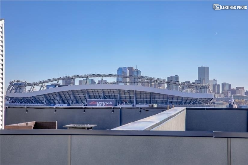 View toward Mile High Stadium and downtown Denver.