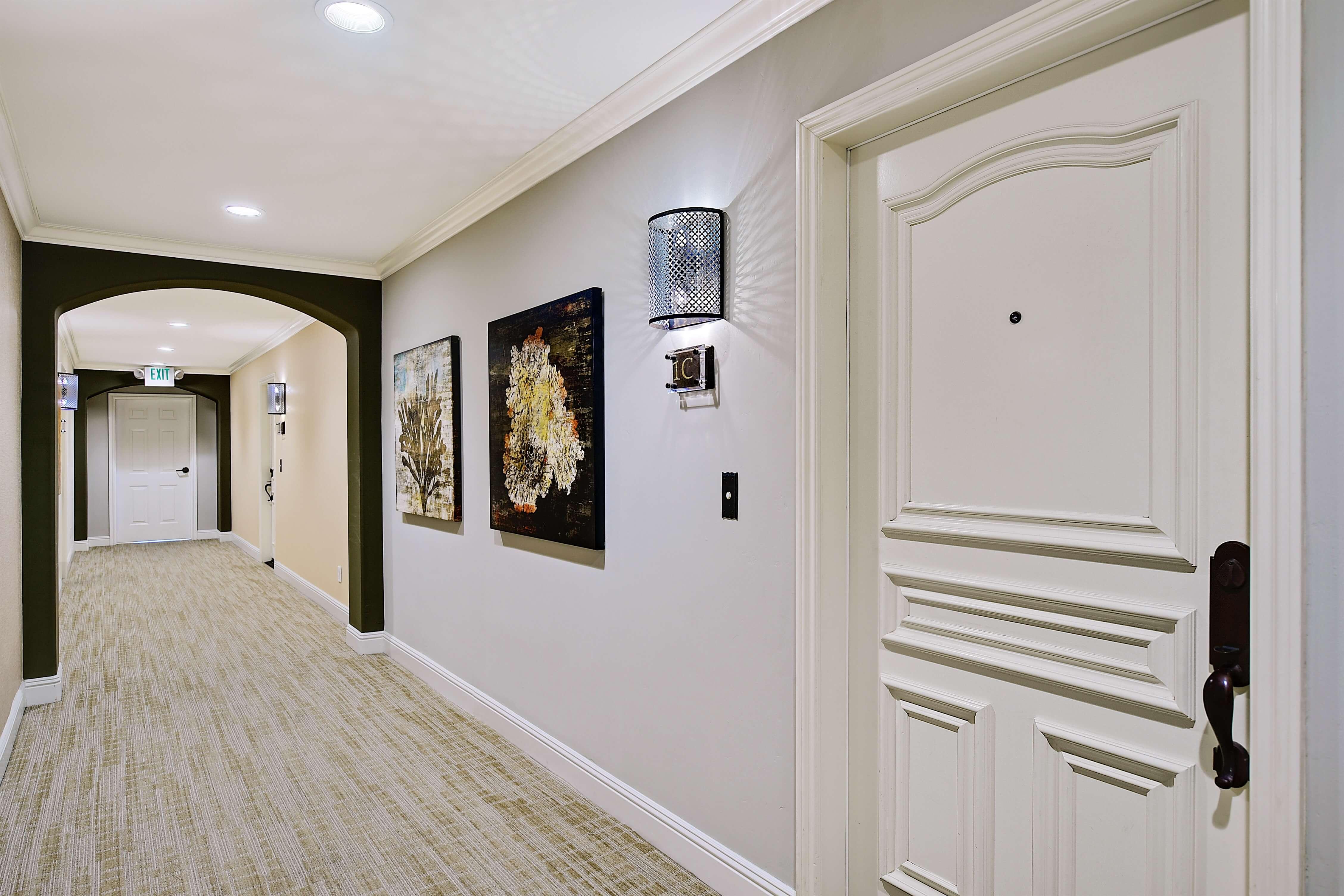Interior condominium entrance