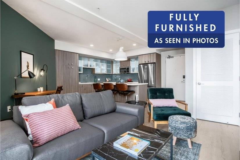 Furnished, Modern SoMa 1BR w/ Gym, Deck