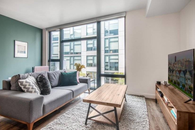 Furnished, Modern SoMa 1BR w/ Gym, W/D