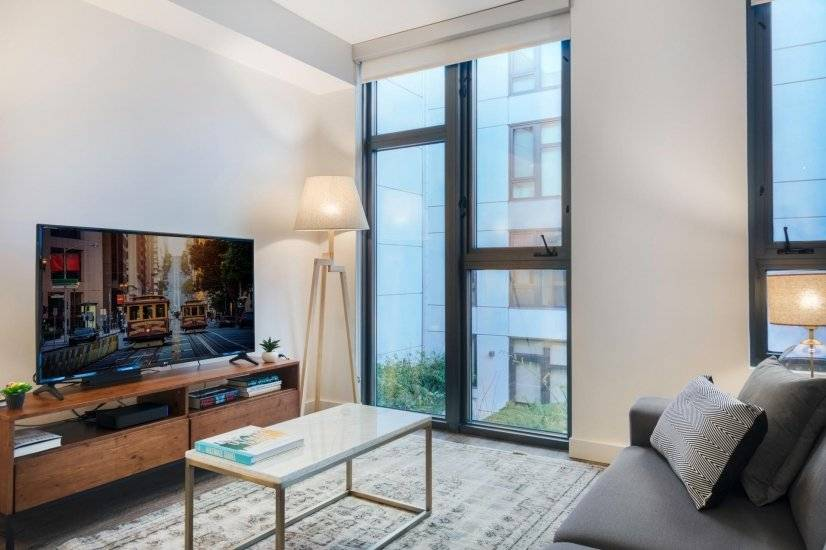 Furnished, Stylish SoMa Studio w/ Gym