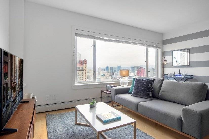 Furnished, Dreamy Nob Hill Studio w/ Gym