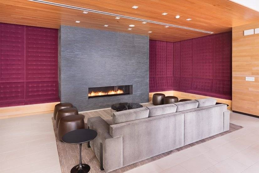 Fire place area for comfort