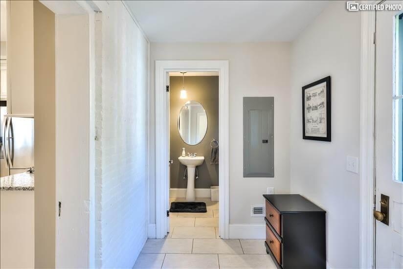 1st Floor Powder Room From 2nd Mudroom Adjacent to Kitchen