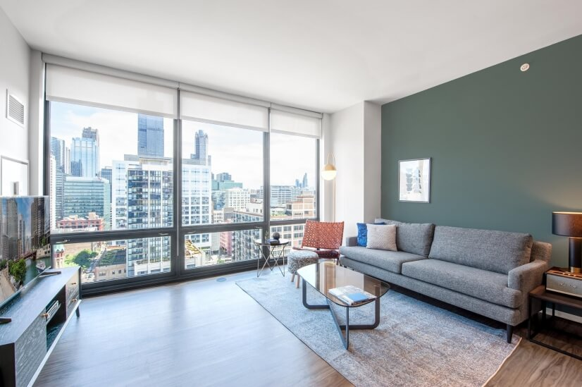 Furnished Ideal West Loop 1BR w/ Gym