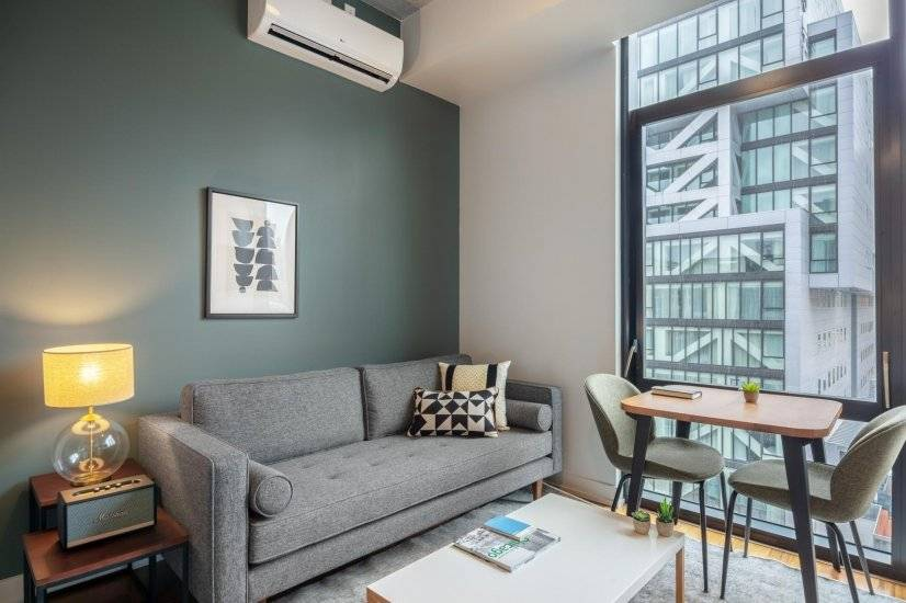 Furnished Hip River North 1BR w/ Gym