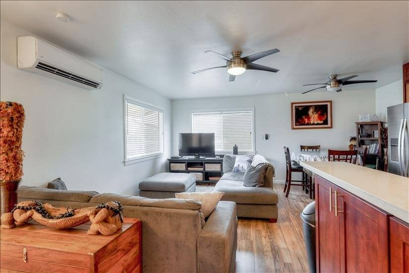 Living Room includes cable TV & Split Air Conditioning
