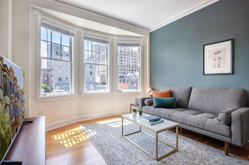 Furnished, Crisp Nob Hill 1BR near FiDi