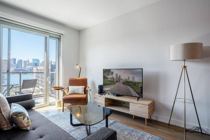 Furnished East Boston 1BR w/ W/D & Patio