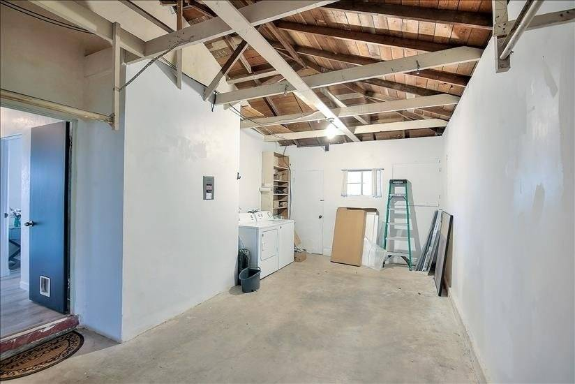 One-car garage with new washer/dryer and room for storage