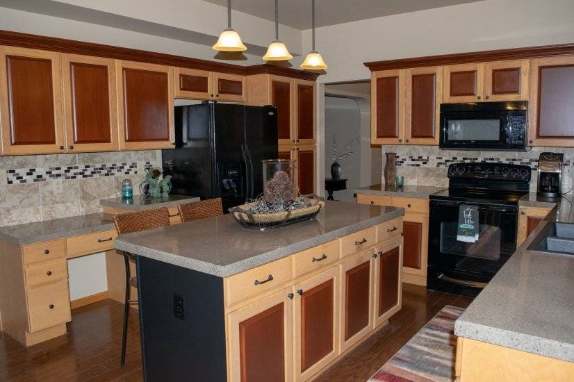 Large Open kitchen with plenty of counter space and storage
