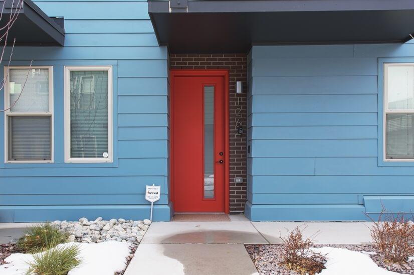 Front door of Townhouse