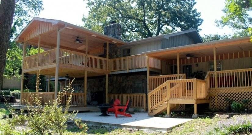 Back yard and decks