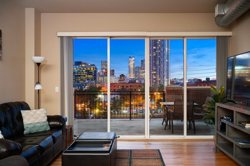 Check out that Downtown Denver view!
