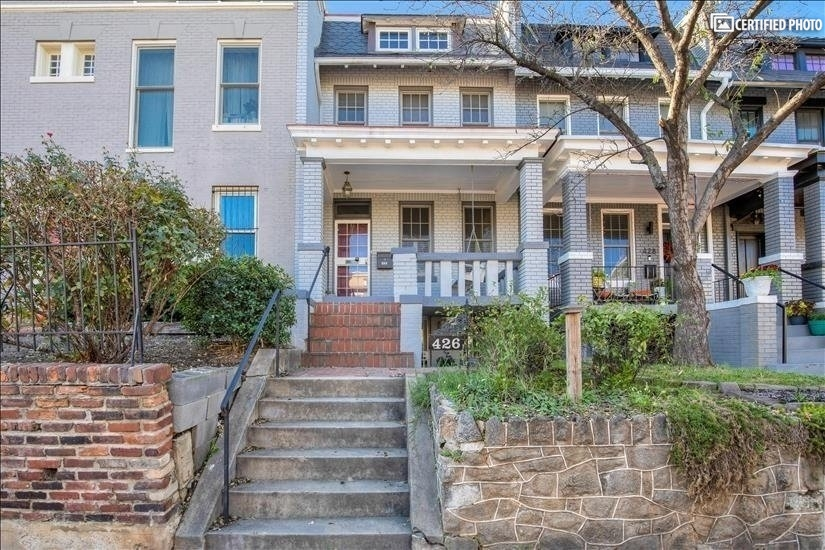 A classic Capitol Hill row house in the historic district