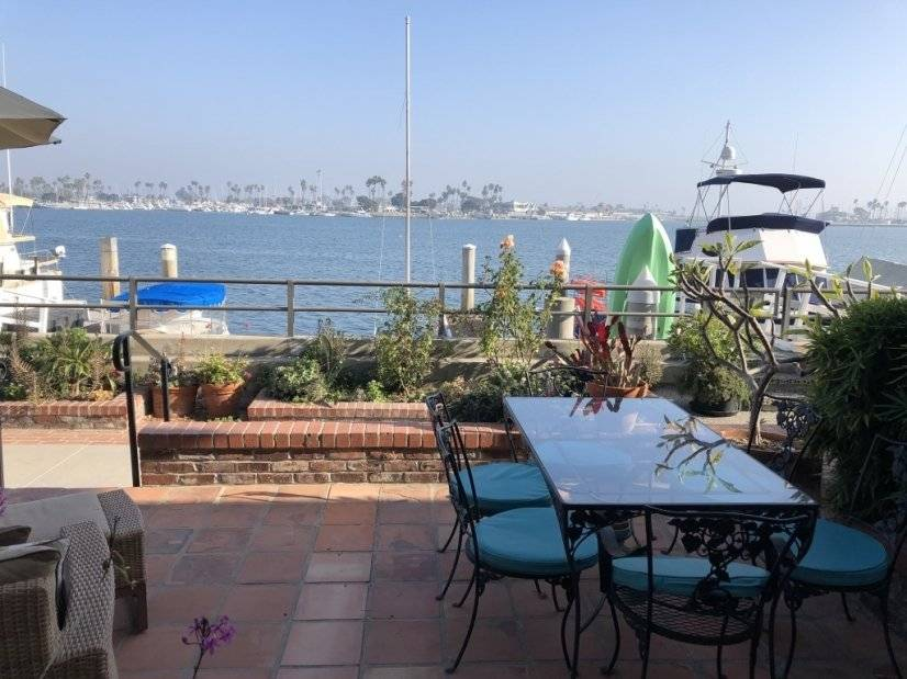 Front porch view of Alamitos Bay