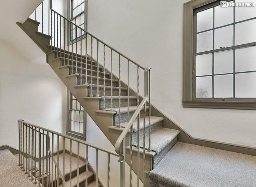 Wide, Well-lit Staircase