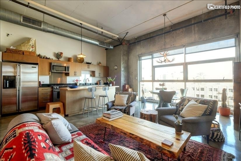 Open concept loft space with eastern views.