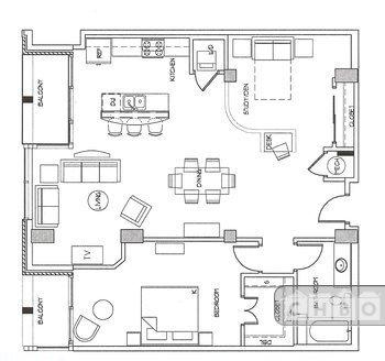 Floor plan, furniture placemen