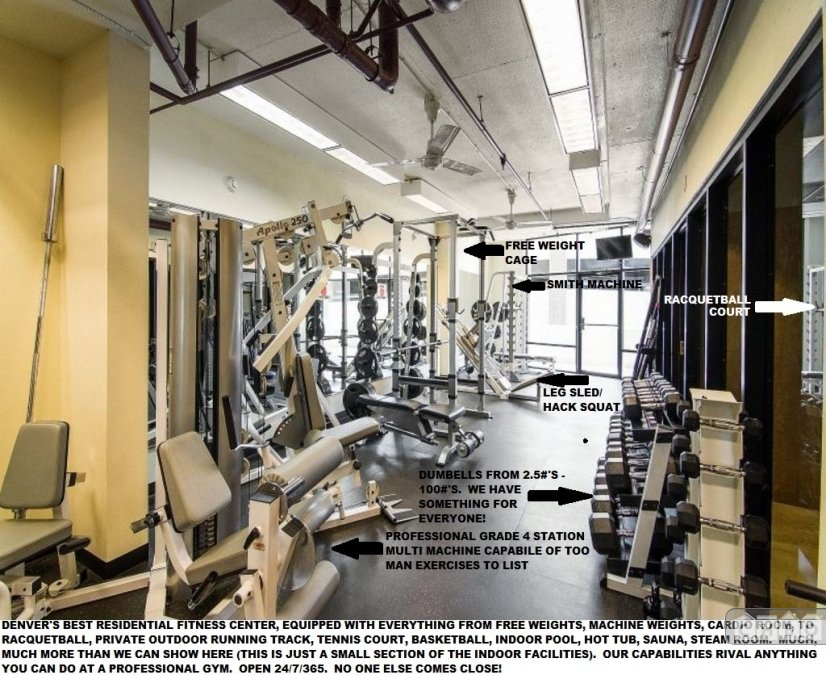 Free Weight Room W/Racquetball Court.