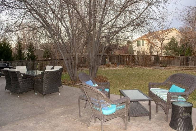 Large patio with tons of room for entertaining