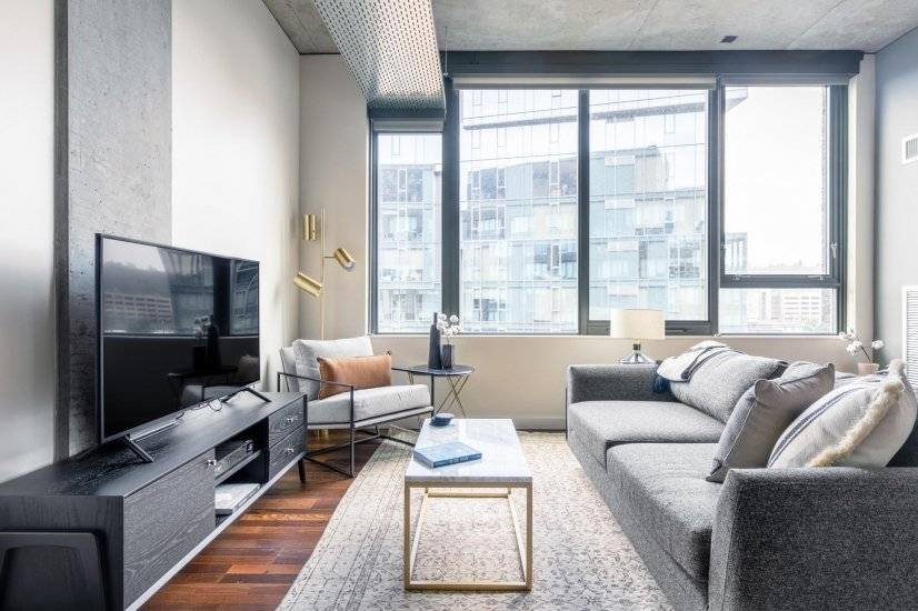 Roomy Pioneer Square 1BR w/ Gym, W/D