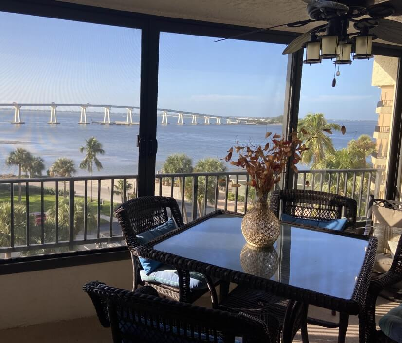 Enjoy the views and breeze from the indoor ba...