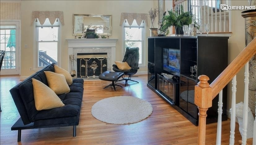 Fireplace and TV visible from entire family gather area
