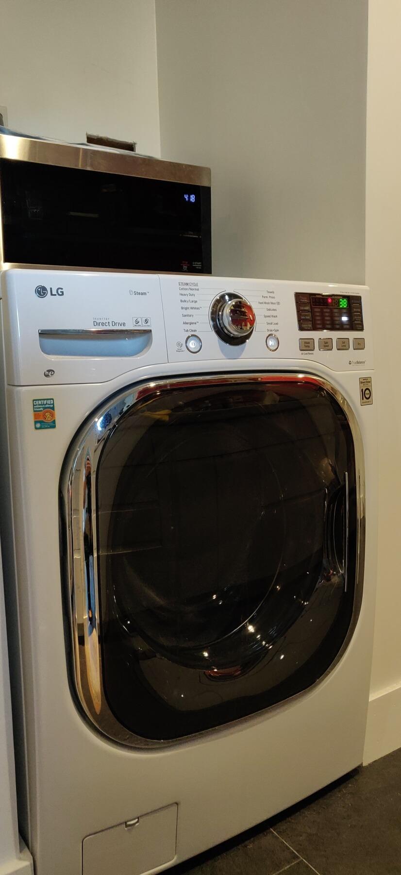 New LGcombo washer/dryer
