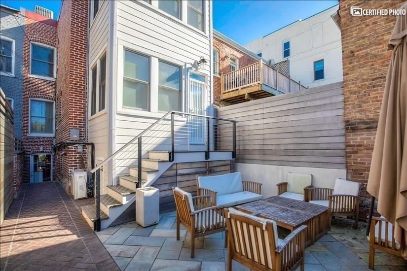 Stone patio/backyard