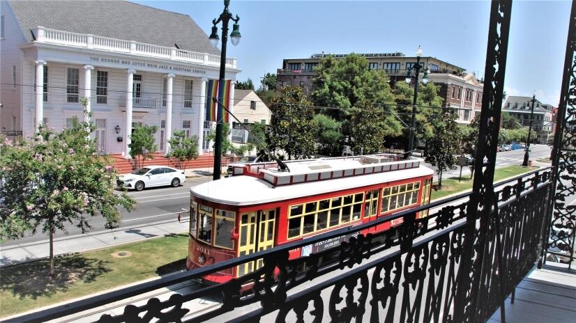 Balcony overlooking Streetcar & Jazz & Heritage Center
