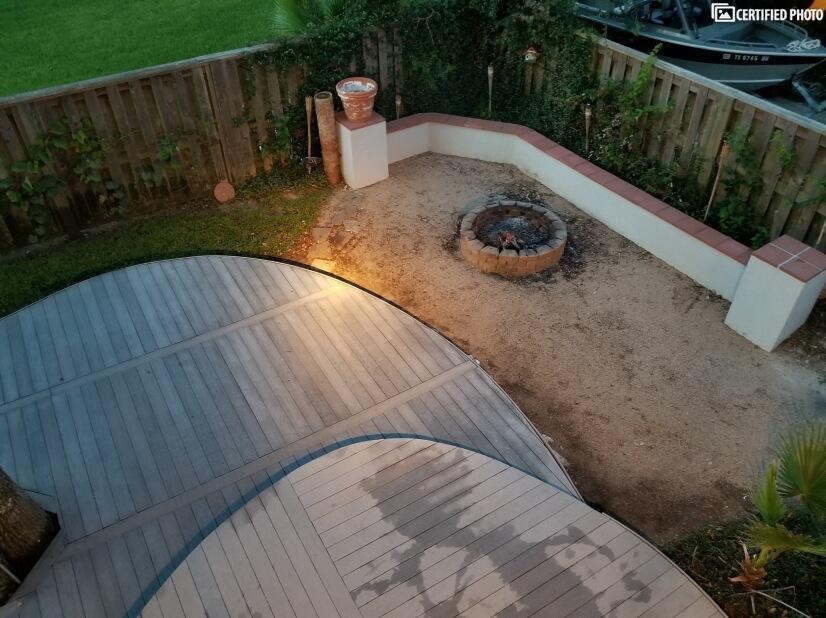 lower deck/ fire pit