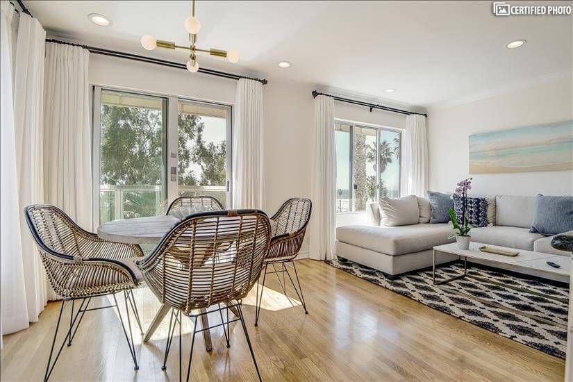Fully Furnished Two Bedroom Santa Monica Pier