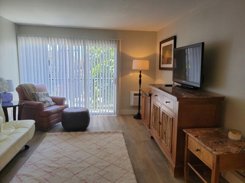 Spacious Living Room w/ TV
